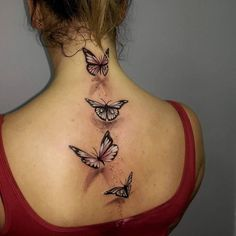 Butterfly tattoo - symbolism, meaning and models- Schmetterling Tattoo – Symbolik, Bedeutung und Modelle butterfly tattoo women tattoos tattoo designs - Butterfly Tattoos For Women, Butterfly Back Tattoo, Tattoos For Women Small, Small Tattoos, Tattoo Flowers, Realistic Butterfly Tattoo, Butterfly Wings, 3d Flower Tattoos, Butterfly Tattoo Designs