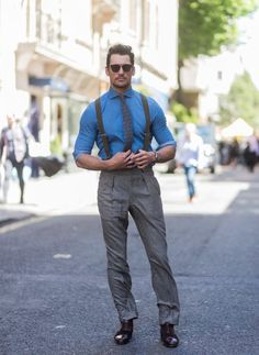More from day 2. LFWM! #DavidGandy   Sunglasses: @Fendi  Tie: @ClubMonaco  Shirt: @ADAYSMARCH  Suspenders: @sharpanddapper  Watch: @omegawatches    Credit to the owners of the photos! ❤️