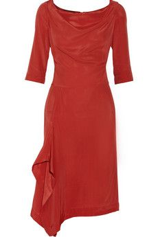 Vivienne Westwood Anglomania Solstice crepe de chine dress | THE OUTNET