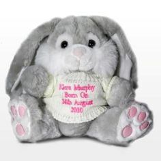 Easter gift ideas personalised bunny with pink name on ear easter gift ideas personalised message bunny with pink message easter gift for girls negle Gallery