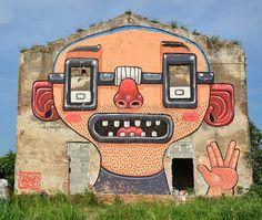 By @misterthoms in Italy ( http://globalstreetart.com/misterthoms) #globalstreetart