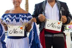 Matching signs are perfect for the bride & groom #BreathlessCaboSanLucas #Mexico #DestinationWedding