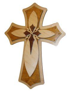 Decorativo madera Cruz cruces de madera acodadas 15