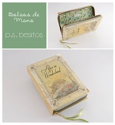 Alice in Wonderland Book Clutch by psBesitos on Etsy, €60.00