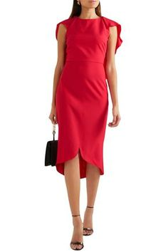 Shop on-sale Draped wool-blend dress. Browse other discount designer Knee Length Dress & more luxury fashion pieces at THE OUTNET Dresses For Sale, Dress Sale, Nice Dresses, Coat Dress, Jacket Dress, Wedding Shoes Bride, Dress Outfits, Fashion Outfits, Antonio Berardi