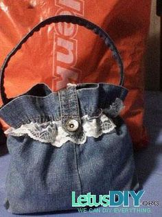 DIY denim handbag -----LetusDIY.ORG|DIY Everything here