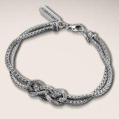 John Hardy Classic Chain Silver Knot Station Bracelet #JRDunn #Jewelry