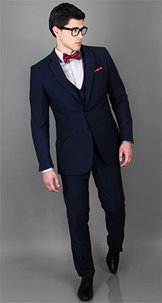 The Midnight Blue Wool & Linen 3 Piece Suit | Dragon Inside