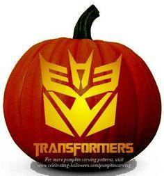 Halloween Transformers Stencil – Free Pumpkin Carving Stencil/Pattern