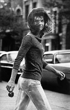 Jackie O - I kept this picture in my notebook in my college years. She was so smart.