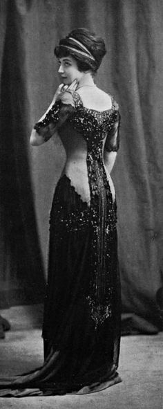 1910 Evening dress by Bourniche via Les Modes Paris - @~ Mlle.