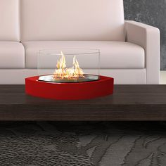 Anywhere Fireplaces Lexington Tabletop Bio Ethanol Fireplace Finish: Red Tabletop Fireplaces, Indoor Outdoor Fireplaces, Bioethanol Fireplace, Fireplace Ideas, Fireplace Accessories, Modern Spaces, Contemporary Design, Modern Design, Living Room Decor