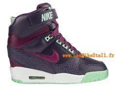 Officiel Nike Air Revolution Sky Hi GS Chaussures Nike Pas Cher Pour Femme Gris/Rouge 635321-440