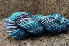 Kara  IN STOCK  Superwash Worsted Yarn  Hand by DyeabolicalYarns (Craft Supplies & Tools, Fiber & Textile Art Supplies, Yarn & Roving, Yarn, Worsted & Aran, yarn, hand painted yarn, superwash wool, hand dyed yarn, dyed wool, hand dyed, hand painted, wool, handpainted, superwash merino, worsted, aran, teal)