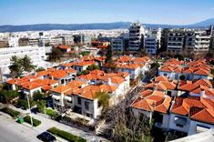 """""""Ouziel Complex"""" is probably the most beautiful neighbourhood in the whole of Thessaloniki, originally built for the accommodation of tramway employees. Thessaloniki, Paris Skyline, The Neighbourhood, Dolores Park, Most Beautiful, Paradise, River, History, Architecture"""