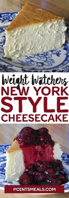 New York Style Cheesecake #weight_watchers #cheesecake