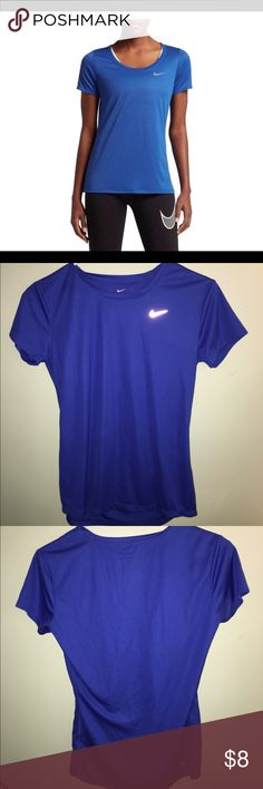 Nike blue short sleeved top Great condition Nike Tops Tees - Short Sleeve