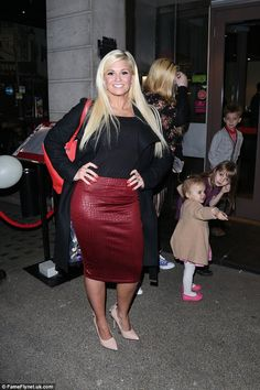Looking good! Kerry Katona showed off the results of her new healthy lifestyle in a sultry form-fitting ensemble when she hit London's Benihana restaurant with her five children on Monday night