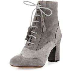 0ea4a17f38ee Tabitha Simmons Afton Suede Lace-Up Bootie (£650) ❤ liked on Polyvore