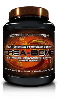 """SCITEC CREA-BOMB - Muscle Gain & Performance.  There's an advantage in diversity and teamwork. Don't take part in the futile debate of which single Creatine type is the best – take many types! """"Carpet bomb"""" your muscle cells with every important version of Creatine with CREA-BOMB. Our best, 6 component multi-creatine matrix provides - among others - the most studied Creatine form ever!  #creatine#scitec#ScitecCreaBomb#multicreatine#musclegain#bodybuild#bodubuilder#gymaholic#dxhivevanity"""