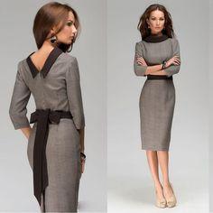 09b4142578a Sexy Womens Office Lady Wear To Work OL Business Tunic Belt Bodycon Pencil  Dress