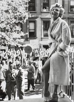 """Marilyn Monroe on location in New York for """"the Seven Year Itch."""""""
