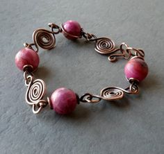Radiant Orchid Gemstone and Copper Wire by SmallPotatoesJewelry, $34.00