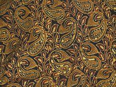 Kalamkari fabric - Soft Cotton Fabric by the yard - Block Printed Cotton Fabric - Vegetable Dye Fabric in Mustard Yellow Dark Brown Color
