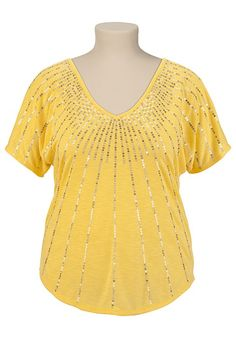 V-Neck Sequin Top available at #Maurices
