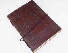 Sonderformate - Lederbuch Notizbuch Tagebuch Kladde Kamel 0044 - ein Designerstück von lederbuch24 bei DaWanda