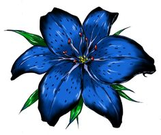 Blue Tiger Lily Tattoo | Tiger Lily by Raikoh101