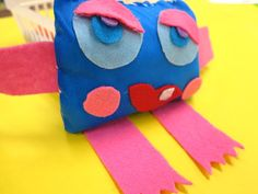 In the Art Room: Stitched Monsters, Update! Cassie Stephens, Teacher Blogs, Art Club, Elementary Art, Monsters, Art Projects, Dinosaur Stuffed Animal, Stitch, Room