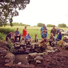 The stonework team who help rebuild an old communal well in Brookfield Farm in Co. Tipperary as part of the setting up for the All Ireland Gathering 2014 Stone Work, Permaculture, Adventure Travel, Ireland, Community, Wellness, Instagram Posts, Life, Irish