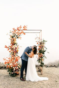Wedding Trends The most colorful spring, floral wedding ceremony at Oakridge Farmhouse in Southern California - 100 Layer Cake - Wedding Ceremony Ideas, Wedding Altars, Wedding Trends, Wedding Arches, Church Wedding, Fall Wedding, Rustic Wedding, Wedding Ceremony Marquee, Wedding Cake