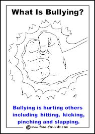 bullying and teasing coloring pages - photo#37