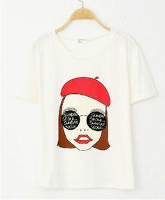 Girl Print Cotton T-shirt