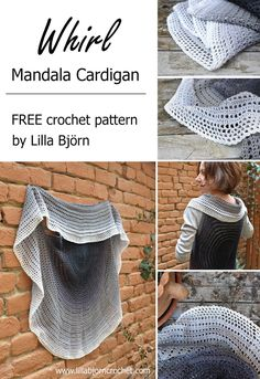 Whirl Mandala Cardigan - FREE crochet pattern