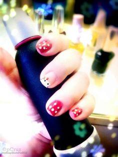 Hearts hello kitty nails <3