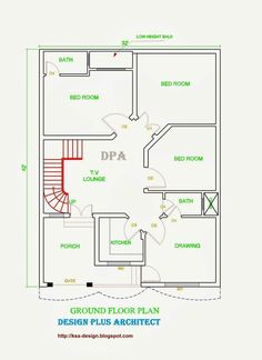 55 trendy home design plans indian my dream house 5 Marla House Plan, 2bhk House Plan, Model House Plan, House Layout Plans, Duplex House Plans, Dream House Plans, House Layouts, Small House Plans, House Floor Plans