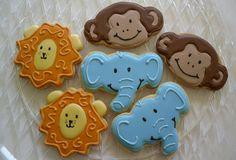 Jungle Cookies Lion Monkey Elephant Baby Shower