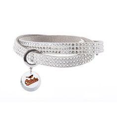 Baltimore Orioles Swarovski Home Run Bracelet, $90.00 http://shareasale.com/m-pr.cfm?merchantid=62865&userid=646297&productid=637743150&afftrack=