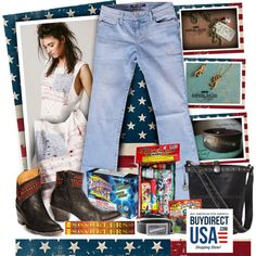 """Bullet Blues and Made In USA for July 4th #bulletblues #madeinusa #americanmade #July4th"" by bulletblues on Polyvore"