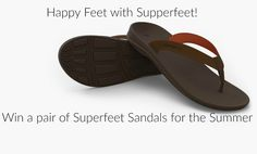 Experience the comfort and support of #Supperfeet #sandals this #Summer #win a pair #men or #women Outside Superfeet sandals in color of Choice! ARV $59.99 #ad