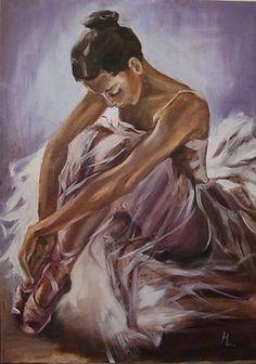 Artist Monika Luniak Pszczyna, Poland - Elektra Z. Ballet Drawings, Dancing Drawings, Art Drawings, Ballerina Kunst, Texture Painting, Painting & Drawing, Half Elf, Ballerina Painting, Dance Paintings