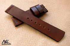 Custom made leather watch strap. 22/22 www.mkleathers.pl