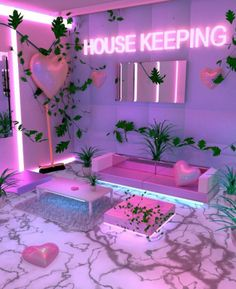 Cheap Home Decor .Cheap Home Decor Neon Bedroom, Room Ideas Bedroom, Bedroom Decor, Trendy Bedroom, Hot Pink Bedrooms, Bar Deco, Cute Room Decor, Neon Room Decor, Girl Bedroom Designs