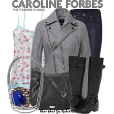 Inspired by Candice Accola as Caroline Forbes on The Vampire Diaries.