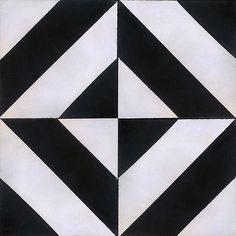 Handmade Cement Encaustic Tiles, Classic Black, White & Gray - This modern cement tile will bring sophistication to any room.