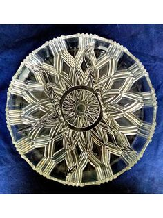 Divided Relish Tray 4 Compartments Mid Century Cut Glass