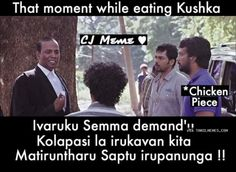 While eating kuska